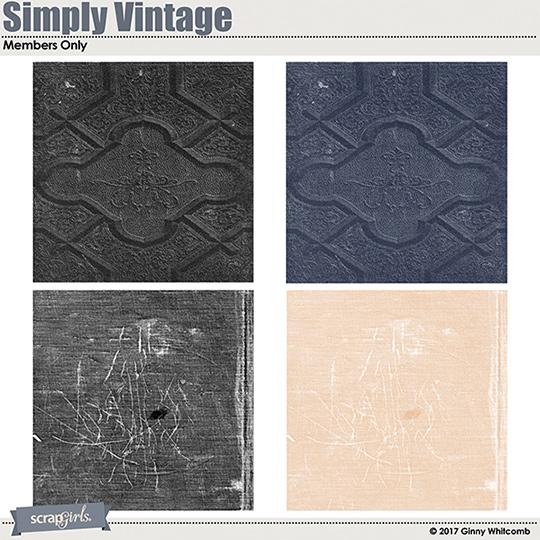 Simply Vintage Bonus paper templates