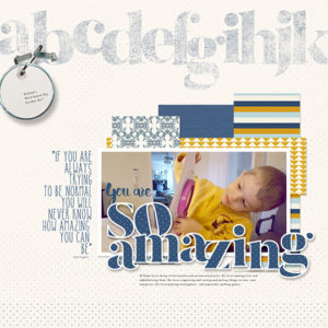 Scrapbook layout using Grunge it Up tutorial