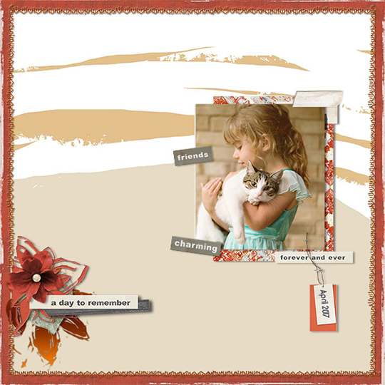 Scrapbook layout featuring Jan 2018 Club Warmth