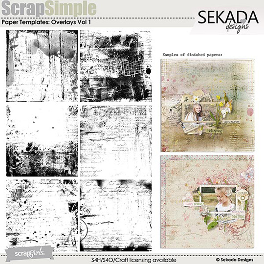 ScrapSimple Paper Templates: Overlays Vol 1