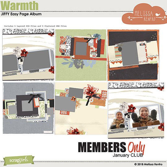 Warmth Jan 2018 Club Bonus Jiffy Albumn