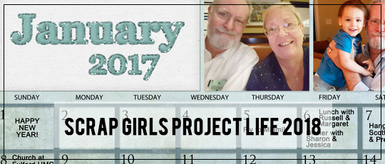 Scrap Girls Project Life 2018