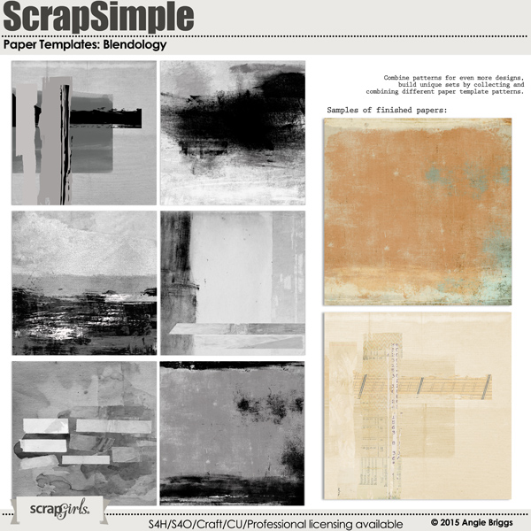 ScrapSimple Paper Templates: Blendology