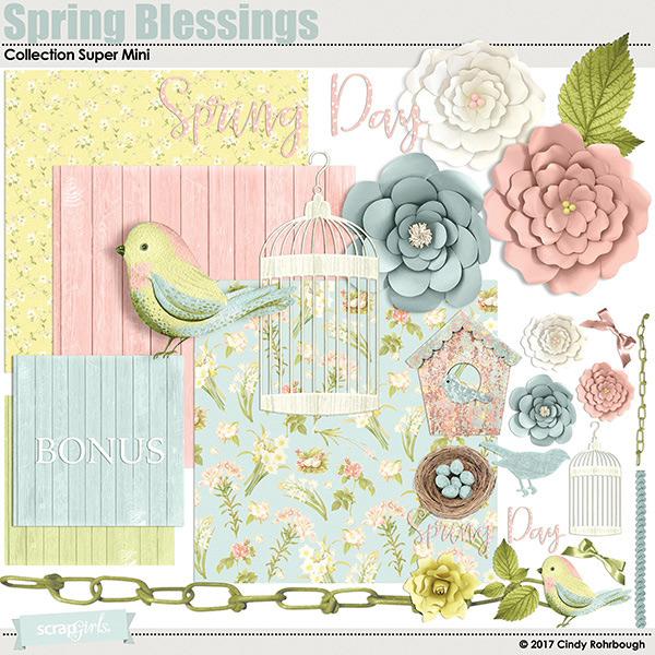 Spring Blessings digital kit