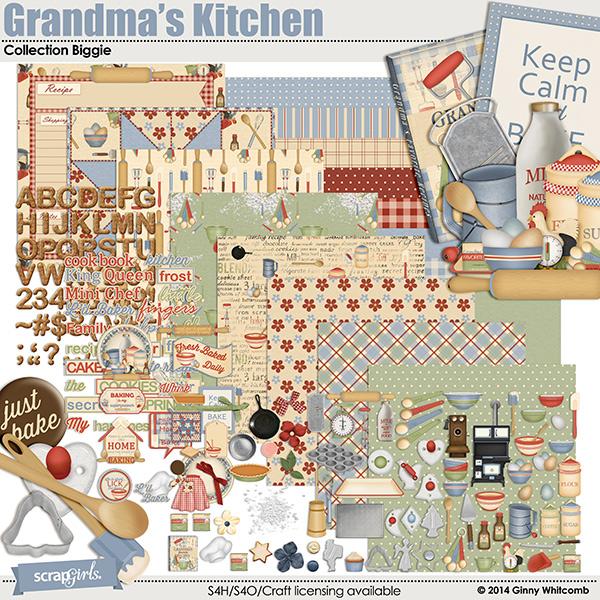 Grandmas kitchen digi kit