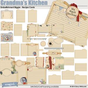 Grandmas kitchen recipe cards