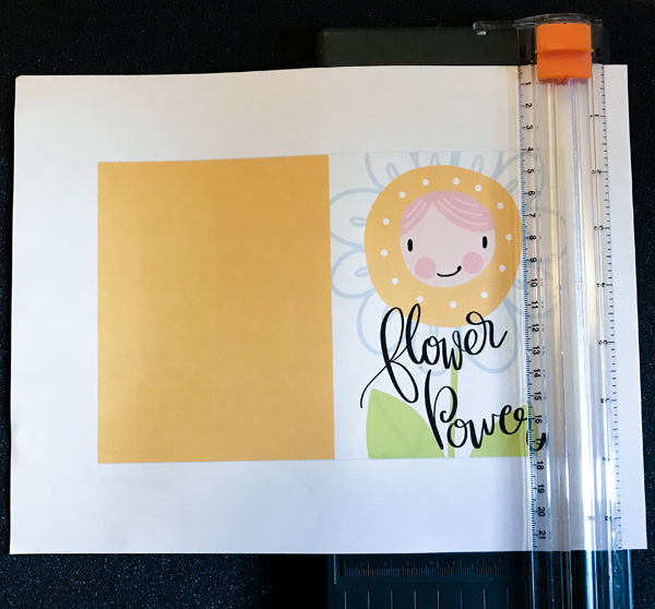 trimming a printable card