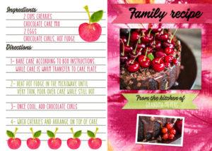 recipe greeting card printable