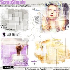 ScrapSimple Embellishment Templates: Floating Photos