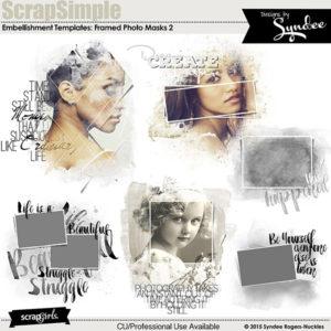 ScrapSimple Embellishment Templates: Framed Masks 2