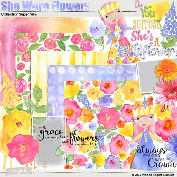 she wore flowers digital kit
