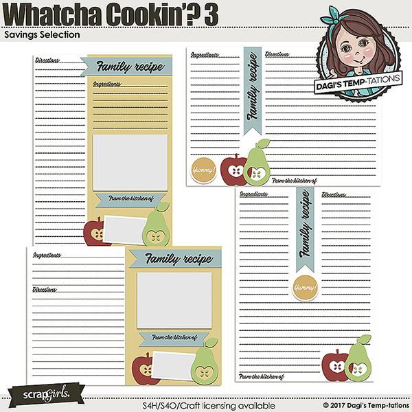 Whatcha Cookin saving selection