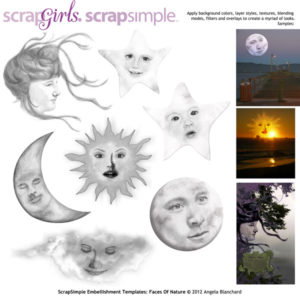 Faces of Nature Embellishment templates