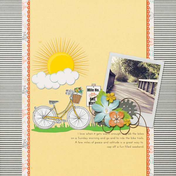 BIke Ride digital scrapbooking layout