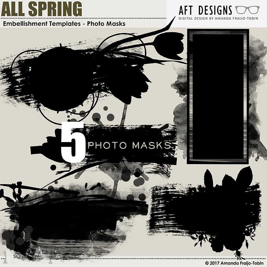 ScrapSimple Embellishment Templates: Photo Masks - All Spring