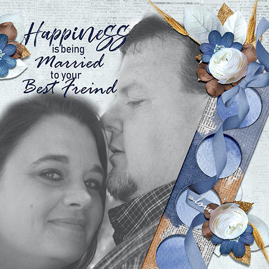 Scrapbook Layout using Don't be Blue April 2018 SG CLUB