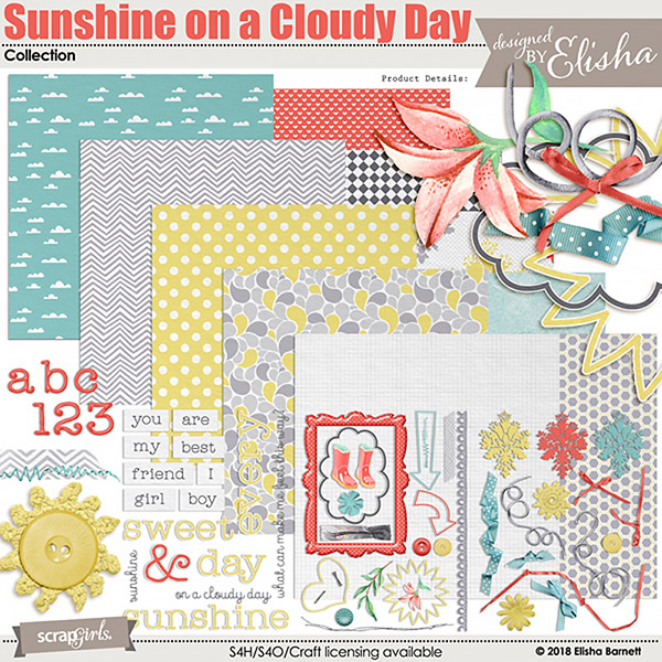 Sunshine on a Cloudy Day digital kit