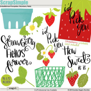 Strawberry Fields templates and clip art