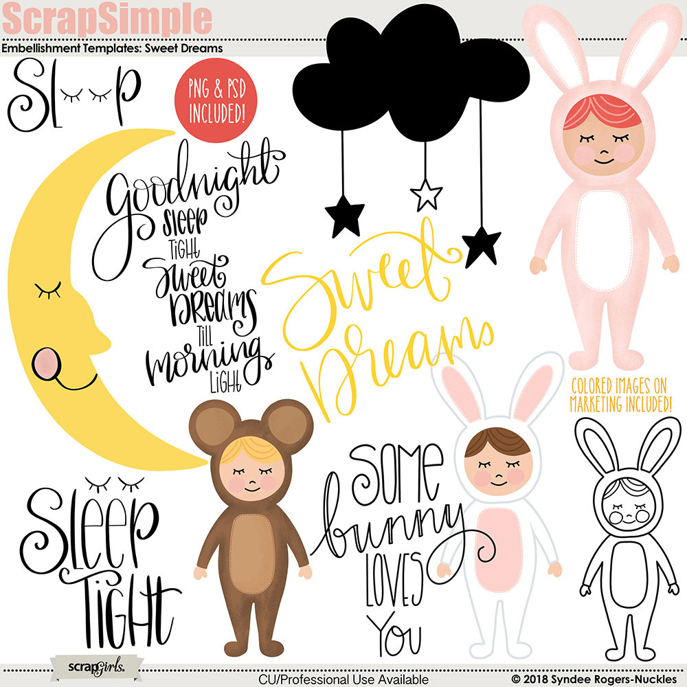 Sweet Dreams Templates and clip art
