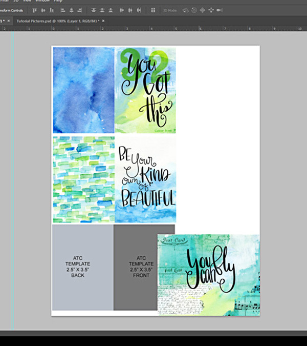 Create ATC Card Template