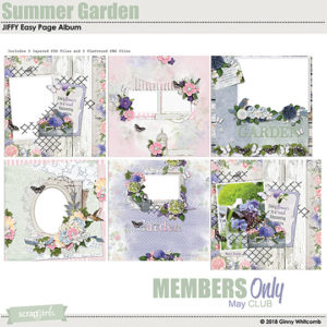 MAY 2018 Summer Garden Club Bonus JIFFY Album