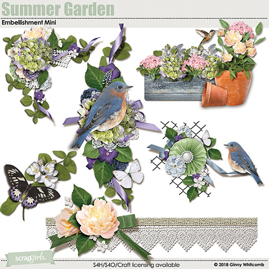 MAY 2018 Summer Garden Club Bonus Embellishments