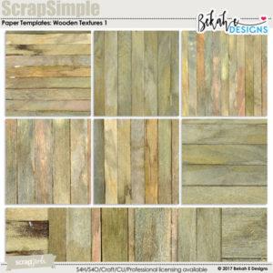 ScrapSimple Paper Templates: Wooden Textures 1