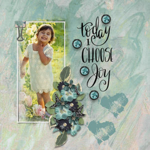 Scrapbook Page uses Wordsmith June 2018 Scrap Girls Club