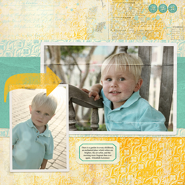 Layout by Anna Mansfield using creases on photos