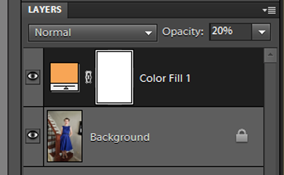 Add A Solid Color Adjustment Layer