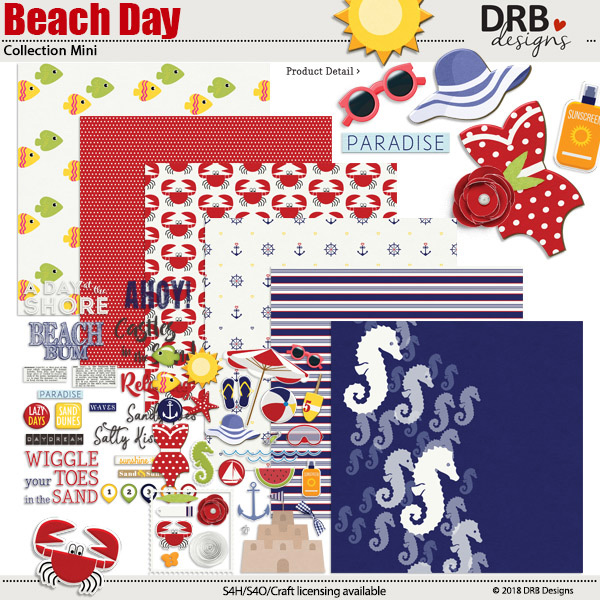 Beach Day digi kit