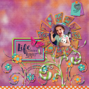 scrapbook page created using July 2018 SG Club Reminisce