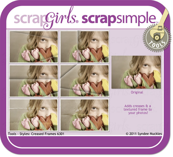 ScrapSimple Tools – Styles: Creased Frames 6301