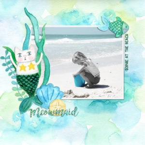 Scrapbook layout created with Under the Sea digital kit