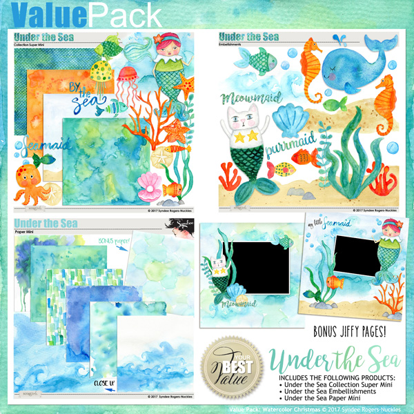 Under the Sea Digital Kit bundle