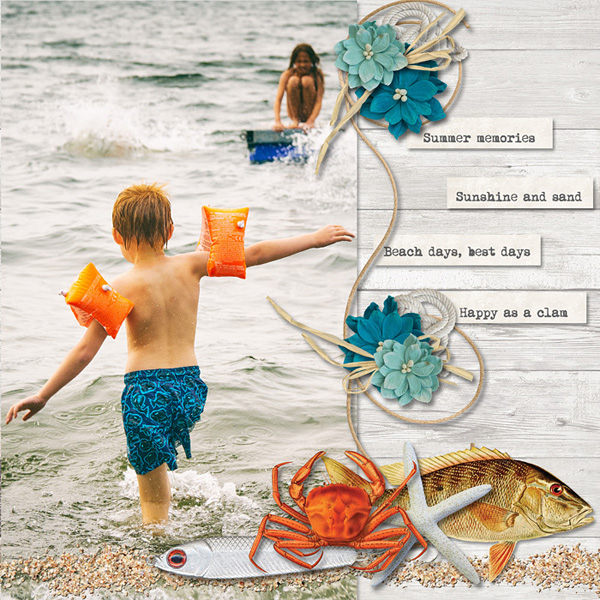 Scrapbook page created by Carmel Munro