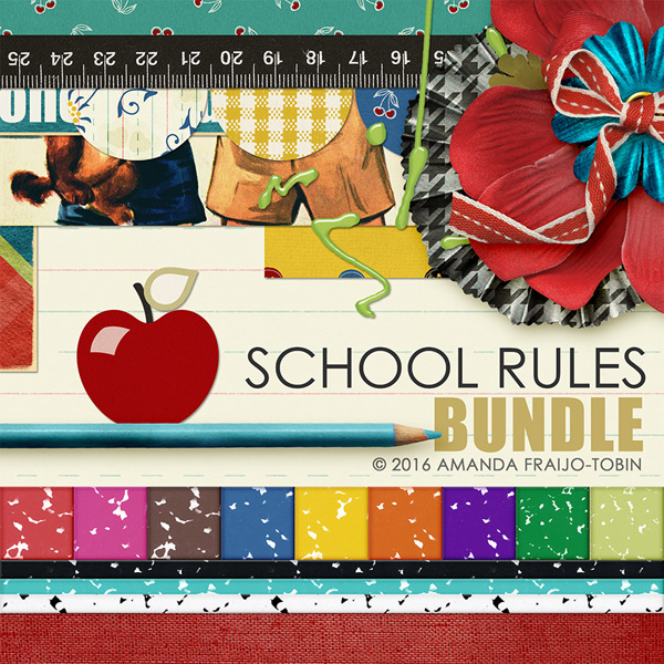 school rules digi kit bundle