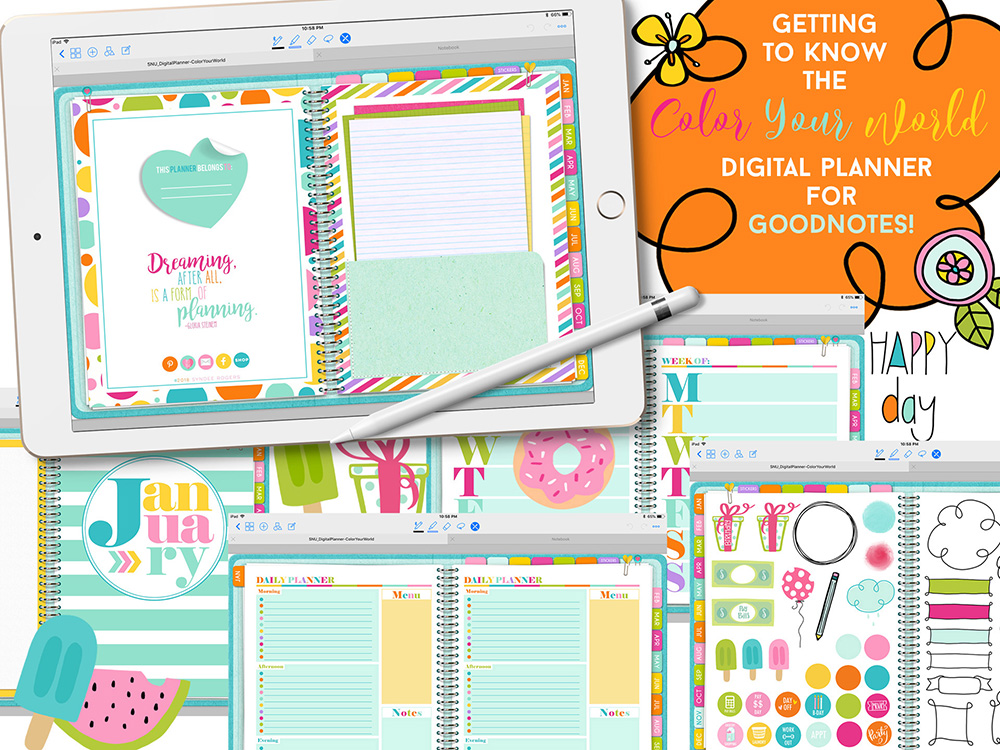 Get to Know the Color Your World Digital Planner for GoodNotes