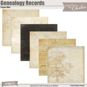 Genealogy Records Paper