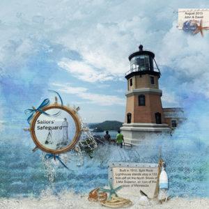 SSCLUB July2018 Seaside Summer scrapbook page
