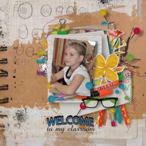 school memories scrapbook page