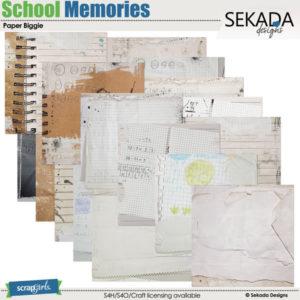 school memories digital papers