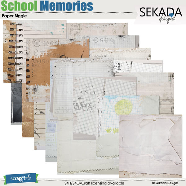 school memories digital papers