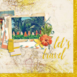 August 2018 SG Club Calypso Scrapbook layout