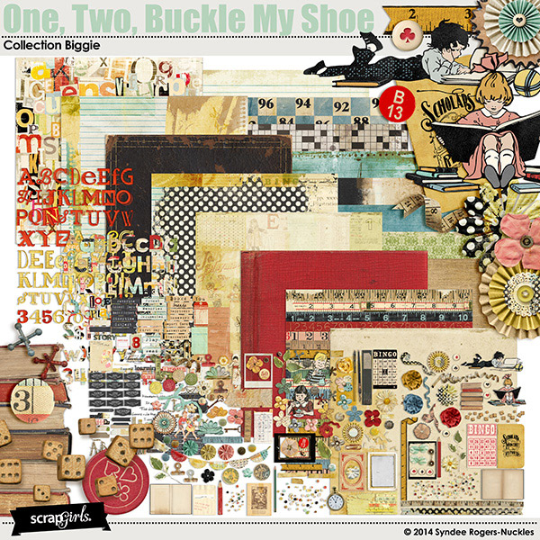 One, Two, Buckle My Shoe digi kit