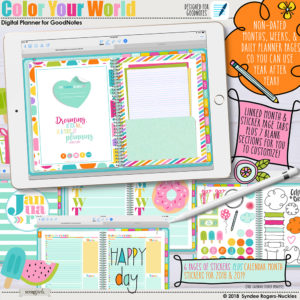 Color Your World Digital Planner