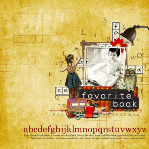 scrapbook page created with digital kit