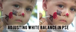 adjusting white balance in pse