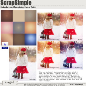 ScrapSimple Embellishment Templates: Pop of Color