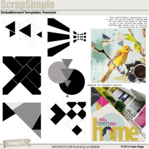 ScrapSimple Embellishment Templates: Freestyle